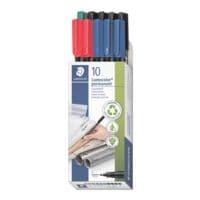 STAEDTLER paquet de de 10 stylos universels « Lumocolor permanent pen 318 », 0,6mm