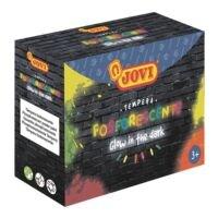 JOVI Lot de 4 pots à peinture liquide tempera « Couleurs vives la nuit » de 55 ml chacun