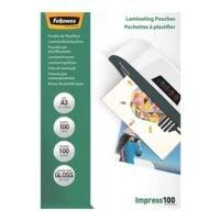 Fellowes 100 pièce(s) Pochettes de plastification A3 100 µ