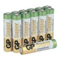 GP Batteries Paquet de 12 piles « Super Alkaline » Micro/ AAA / LR03