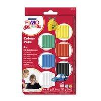 FIMO Paquet de 6 pâtes à modeler « Fimo Kids Basic »