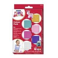 FIMO Paquet de 6 pâtes à modeler « Fimo Kids Girlie »