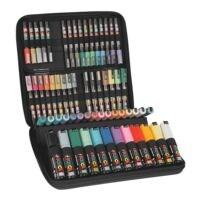 uni-ball Paquet de 60 marqueurs à pigments « M POSCA/60 001 » dans un coffre