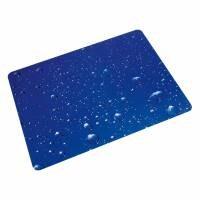 plaque protège-sol pour sols durs, polycarbonate, rectangulaire 90 x 120 cm, Floortex gouttes d'eau