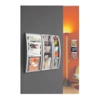 Paperflow Présentoir à prospectus mural 4 compartiments « A4 »