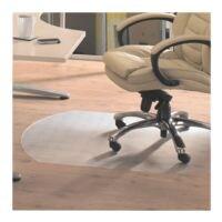 plaque protège-sol pour sols durs, vinyle, forme spéciale T 122 x 142 cm, Floortex Plaque protège-sol