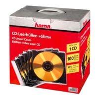 Hama Lot de 100 boîtiers CD/DVD/Blu-ray « Slimline »