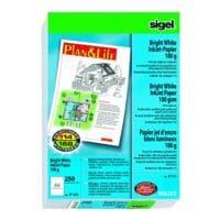 Papier jet d'encre A4 SIGEL Bright White - 250 feuilles au total