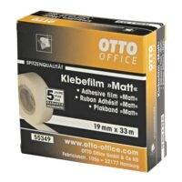 OTTO Office Premium ruban adhésif mat, transparent/adhésion forte, 1 pièce(s), 19 mm/33 m