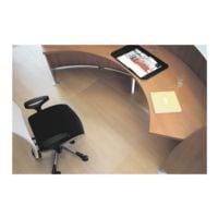 plaque protège-sol pour sols durs, Makrolon®, rectangulaire 90 x 120 cm, RS Office Products ecogrip
