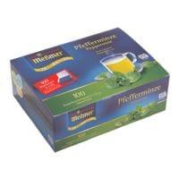 Meßmer Thé à la menthe poivrée « Profi Line » portion pour tasses, sachets non emballés, paquet de 100
