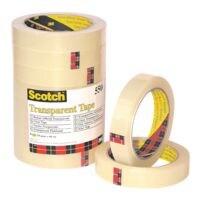 Scotch ruban adhésif 550, transparent/adhésion forte, 8 pièce(s), 19 mm / 66 m
