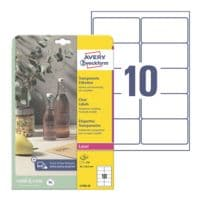 Avery Zweckform Étiquettes transparentes 96x50,8 mm « L7783-25 » 250 pièces