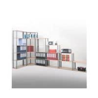 SZ Metall Bibliothèque en acier « universelle 2 NC » 70 cm de largeur