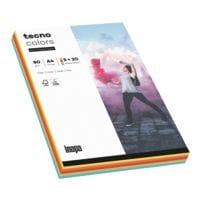 Papier imprimante multifonction A4 Inapa tecno Rainbow / tecno Colors - 100 feuilles au total