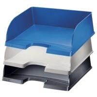 LEITZ Corbeille courrier 5219, A4+ paysage polystyrène, empilable jusqu'à 10 pièces