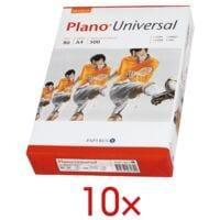 10x Papier photocopieur A4 Plano Universal - 5000 feuilles au total, 80g/m²
