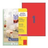Avery Zweckform Paquet de 25 étiquettes fluo