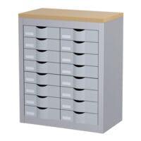 Paperflow Armoire à tiroirs - 8 rangées de 2 tiroirs