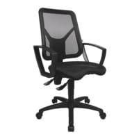 chaise / siège de bureau OTTO Office Budget »Budget« avec accoudoirs, dossier : 45 cm, piètement étoile noir