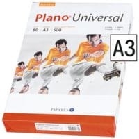 Papier photocopieur A3 Plano Universal - 500 feuilles au total, 80g/m²