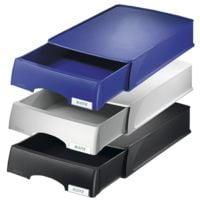 LEITZ Corbeille courrier Plus 5210, A4 polystyrène, empilable jusqu'à 20 pièces