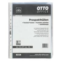 OTTO Office Budget pochette perforée A4 grainé, ouverture en haut - 100 pièce(s)