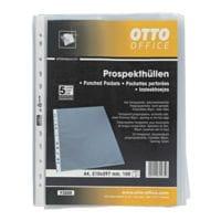 OTTO Office Premium pochette perforée premium A4 grainé, ouverture en haut - 100 pièce(s)