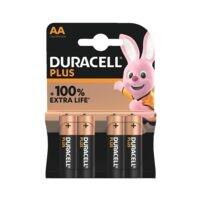 Duracell Paquet de 4 piles « Plus » Mignon / AA / LR06