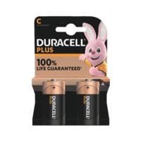 Duracell Paquet de 2 piles « Plus » Baby / C / LR14