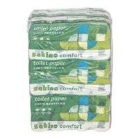 Satino comfort papier toilette Comfort 3 épaisseurs, blanc - 72 rouleaux (9 paquets de 8 rouleaux)