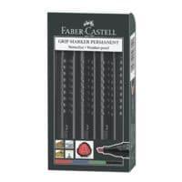 Faber-Castell marqueur indélébile Grip 1504 - pointe biseautée, Epaisseur de trait 1,0  - 5,0 mm