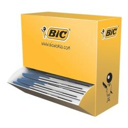100x Stylo-bille BIC Cristal Medium, convient aux documents officiels