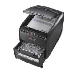 destructeur de documents Rexel Auto+ 60X, Niveau de sécurité P3, coupe « croisée » (4 x 45 mm) jusqu'à 60 feuille(s)