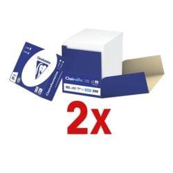 2x Papier imprimante multifonction A4 Clairefontaine 2800 - 5000 feuilles au total, 80 g/m²