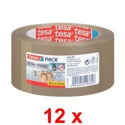 12x ruban adhésif d'emballage tesa 4124, 50 mm de large, 66 m de longueur