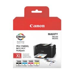 Canon Lot de cartouches « PGI-1500XL BK/C/M/Y »