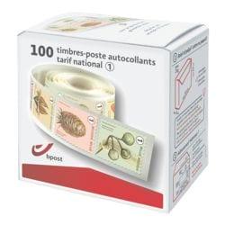 bpost Boîte de 100 timbres, tarif 1 : national non prior (fruit mix)