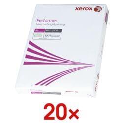 20x Papier photocopieur A4 Xerox Performer - 10000 feuilles au total, 80 g/m²
