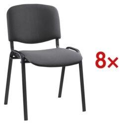 Nowy Styl Lots de 8 chaises empilables armature noir