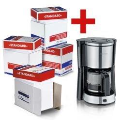 4x Boîte-éco de papier multifonction A4 OTTO Office Standard - 10000 feuilles au total, 80 g/m² avec Cafetière « KA 4822 »