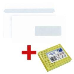 enveloppes Mailmedia, DLplus 80 g/m² avec fenêtre avec Bloc de notes repositionnables « Notes réfrigérateur » avec inscriptions en néerlandais