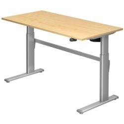 HAMMERBACHER réglable en hauteur (électrique) »Upper Desk« 160 cm, piètement L couleur aluminium