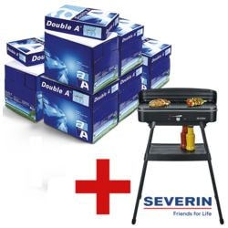 6x Papier imprimante multifonction A4 Double A - 15000 feuilles au total avec Barbecue-gril électrique avec tablette de rangement sur pieds « PG 8533 »