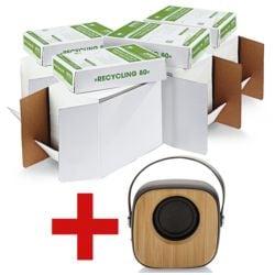 4x Papier recyclé A4 OTTO Office Nature recyclé - 10000 feuilles au total avec Haut-parleur Bluetooth « Bambus »
