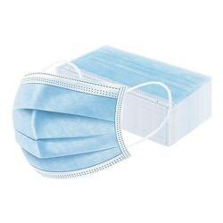 Paquet de 50 masques chirurgicaux type II R, triple épaisseur, bleu