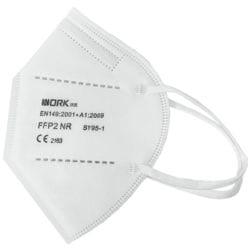 Paquet de 25 masques FFP2 pliés à usage unique « Work » sans valve