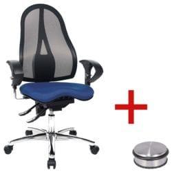 siège de bureau Topstar »Sitness 15« avec accoudoirs avec Butoir de porte « Disc »
