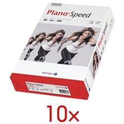 10x Papier photocopieur A4 Plano Plano Speed - 5000 feuilles au total, 80 g/m²