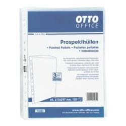 OTTO Office pochette perforée A4 grainé, ouverture en haut - 100 pièce(s)